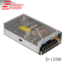 120w smps ac 110v 220v dual output 12v 24v dc switching power supply 12 volt 5 amp led transformer D-120C