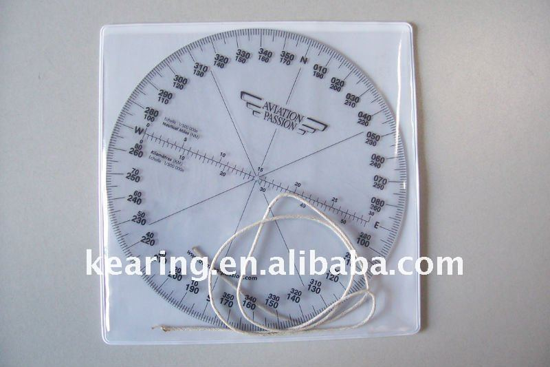 8015 Round Aviation Compass/ aero square ruler