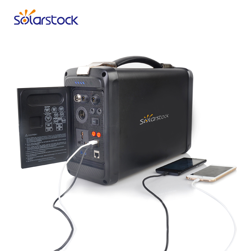 500w Portable Solar Suitcase with Lithium Battery for Outdoor Camping