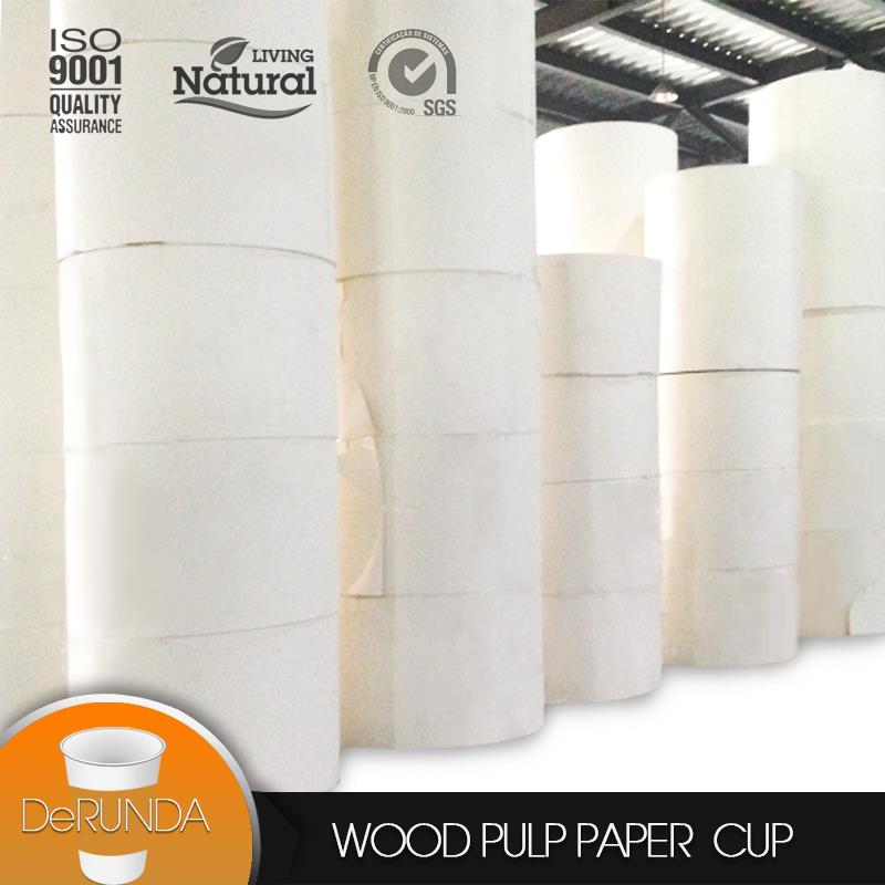 Factory Wholesale PE coated <strong>paper</strong> in roll with high quality <strong>paper</strong> cup raw material price