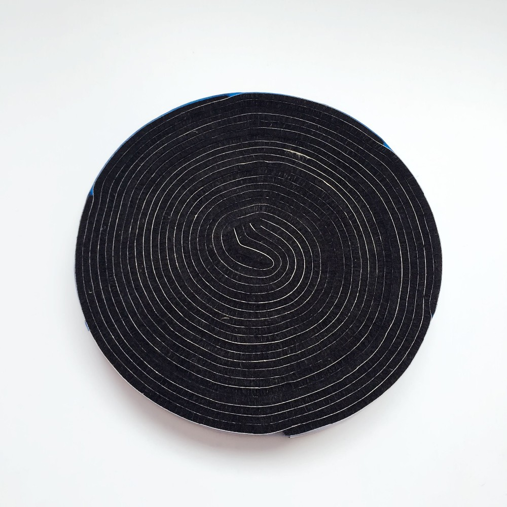 Black felt in rolls with adhesive backing fabric black self-adhesive