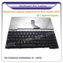 Replace Spanish layout Laptop Keyboard For Acer As 4520 black color