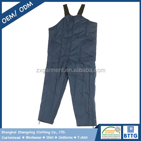High durable rip-stop water proof nylon freezer overalls