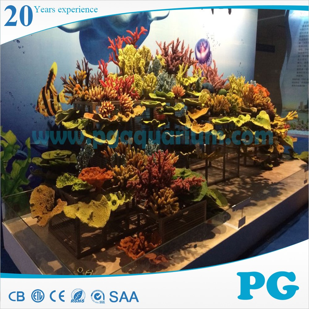 Pg resin artificial aquarium coral view artificial for Artificial coral reef aquarium decoration inserts