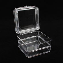 High quality 1 inch/2 inch/3 inch dental crown plastic utility box clear lid view top boxes