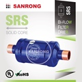 Sanrong SRS Steel Liquid Line Bi-Directional Filter Drier for Air Conditioning, Reversible Heat Pump Filter Drier