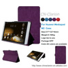 Stand Leather Case For 8 inch Tablet Pc With Wake/Sleep Function 8''Tablet Case For Huawei Mediapad M2, Dark Purple