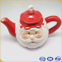 Hot sell Santa Claus ceramic teapot,water pot for Christmas made in china