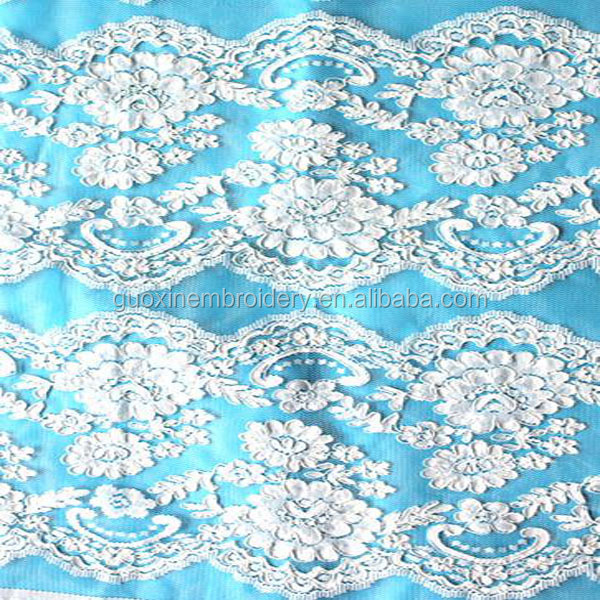 Embroided Heavy design lace for ladies corsets