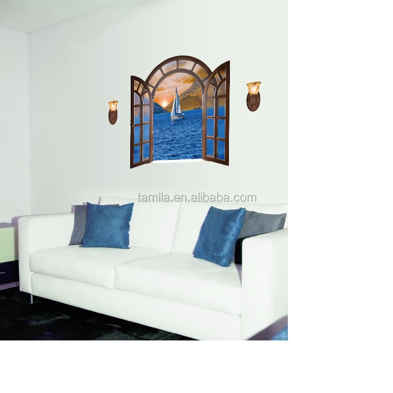 Muslim Style Home Living Sailing Boat Wall Sticker Home Decor Window Sticker
