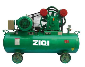 industrial mobile piston air compressor machine