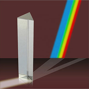 wholesale optical crystal glass k9 60 degree rainbow equilateral triangular prism