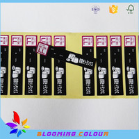 custom made cheap high quality self adhesive number sticker