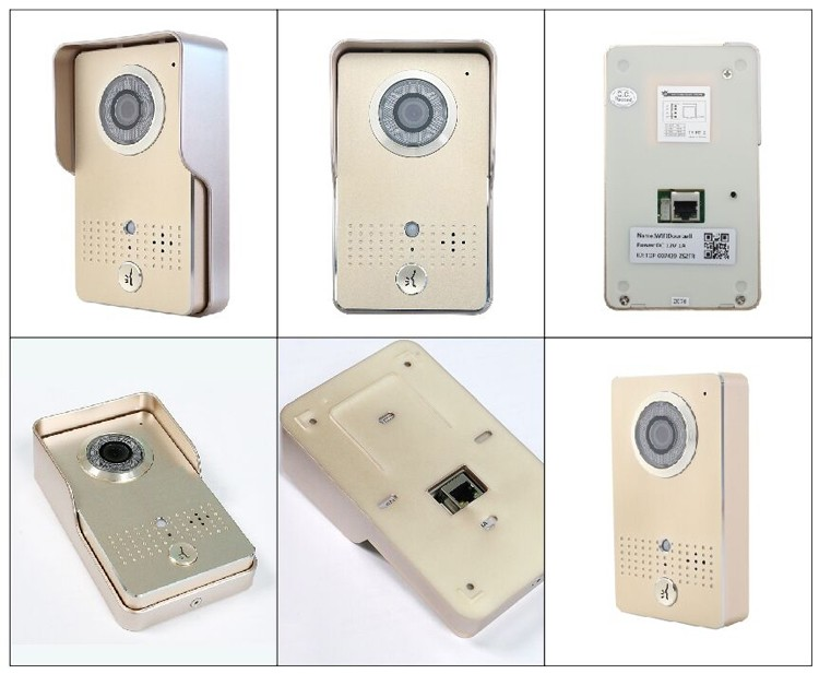 Door safety android intercom wireless fingerprint door lock pir sensor video intercom wifi