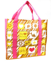 silkscreen print non woven foldable shopping bags