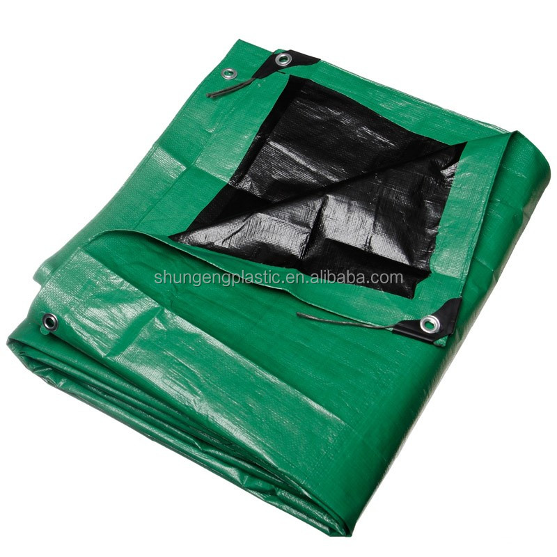 0.05mm to 0.5mm blue/green plastic PE tarpaulin sheet for waterproof cover usage