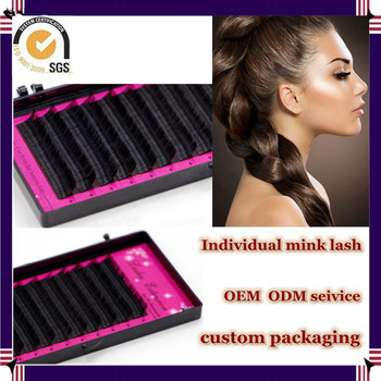 Milkyway high quality cheap price all size J B C D curl synthetic individual mink lash,mink eyelash extensions