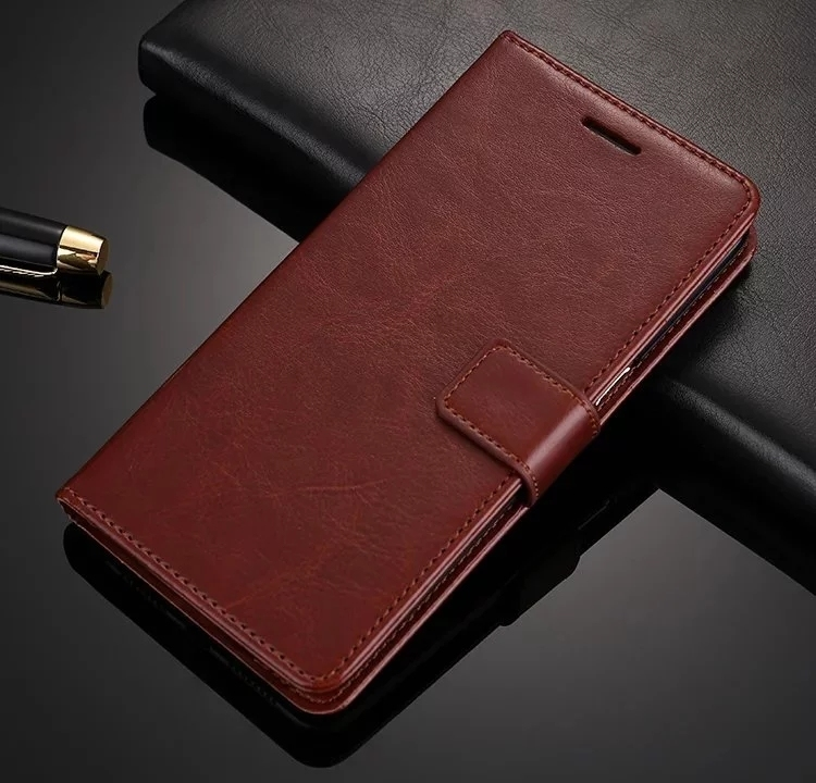 Custom Wholesale Phone Wallet Case for SONY Xperia E5 Genuine leather wallet case for SONY E5
