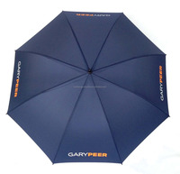 30'' outdoor big size auto golf umbrella polyester fabric with logo