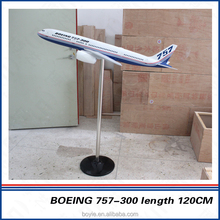 Used for gifts resin handmade resin aeroplane models boeing B757 kit model plane made in china
