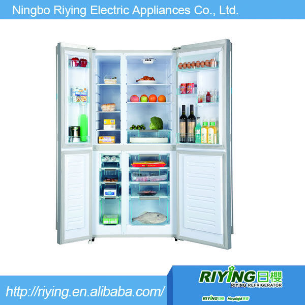 hot sale big capacity silver color cheap side by side refrigerator with no frost