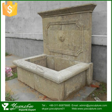 factory supply antique stone wall fountain for sale