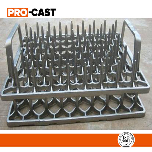 investment cast basket for heat treatment furnace