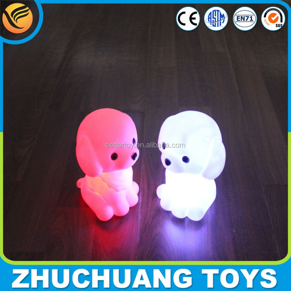 transparent dog coin money saver bank with LED light
