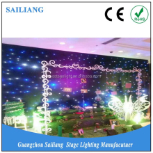 led starlight backdrop curtain/fiber wedding mandap decoration