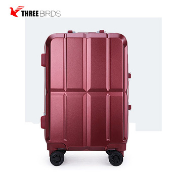 three birds B-256 high quality wholesale 20 / 24 inch aluminium sashsuitecas pc luggage travelling bags luggage set for hot sale