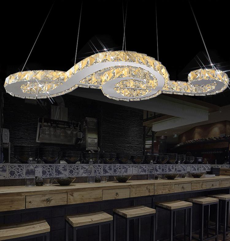 Moderne Crystal Light Lustre De Luxe Salle € Manger Suspendus