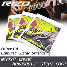 High Quality Colourful Coated Guitar Strings colored electric guitar string for elixir D'Addario