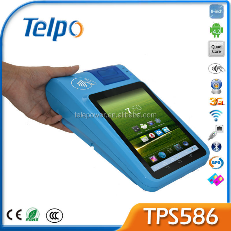 Telpo Hot sale New PAndriod Pos TPS586 Handheld Android RFID Reader Mobile POS Terminal Electronic Cash Register Point of Sale