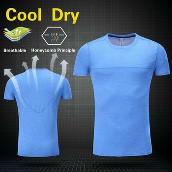 AK3010 Quick dry in stock plain running t shirt for men