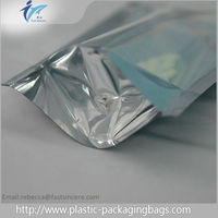 Laminated Material Material and Zipper Top Sealing & Handle Natural rice paper window stand up pouch