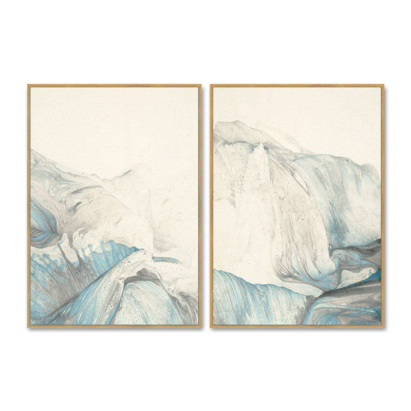2 Panels Custom Abstract Canvas Prints Wall Art for Home Decor