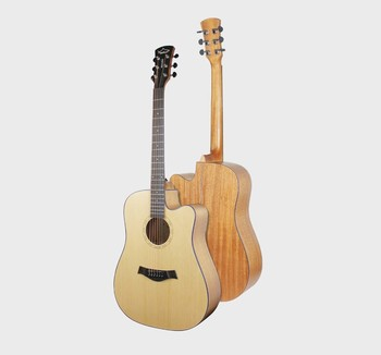 from China Musical instruments manufacture cheap Cutaway acoustic guitars