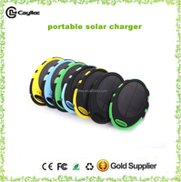 New arrival portable solar charger 5000mah,waterproof solar power bank for mobilephone