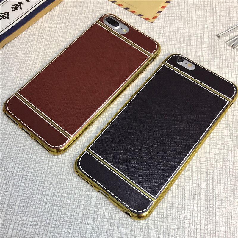 Ultra Thin Leather skin tpu soft plating case for tecno w2 w3 w4 w5