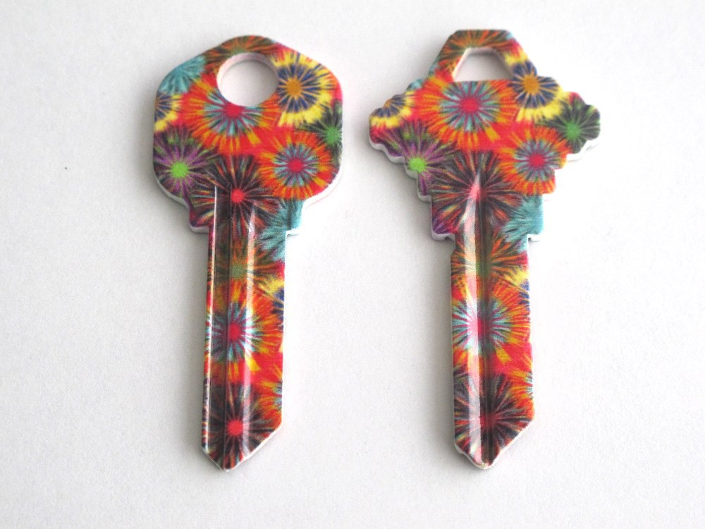 Top quality KW1 and SC1 customize designed colors blank key and painted key blank