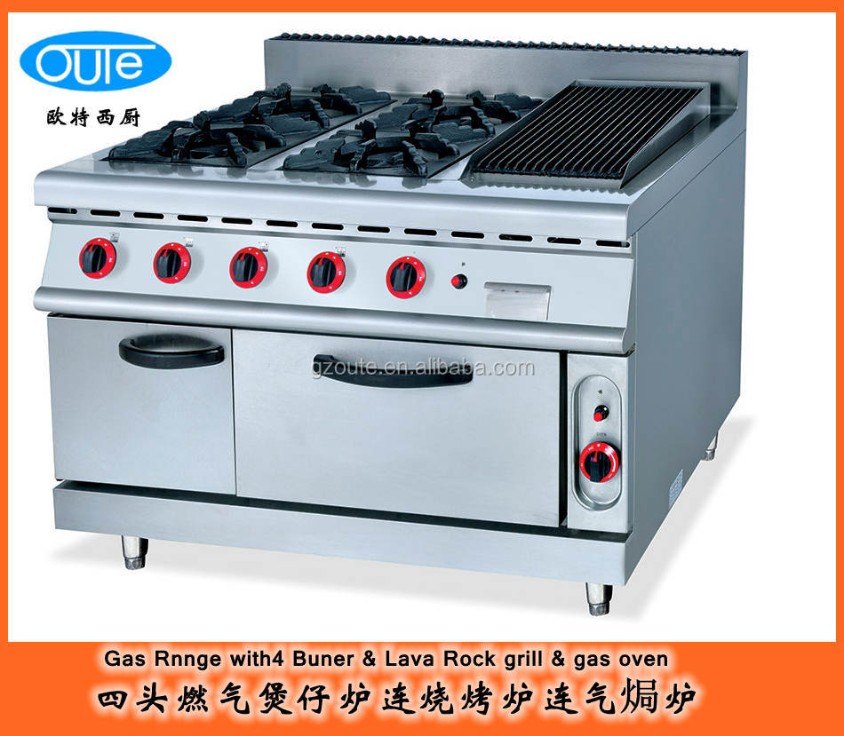 Oven stove 6 burner propane stove top with oven electric for Daftar harga kitchen set stainless steel