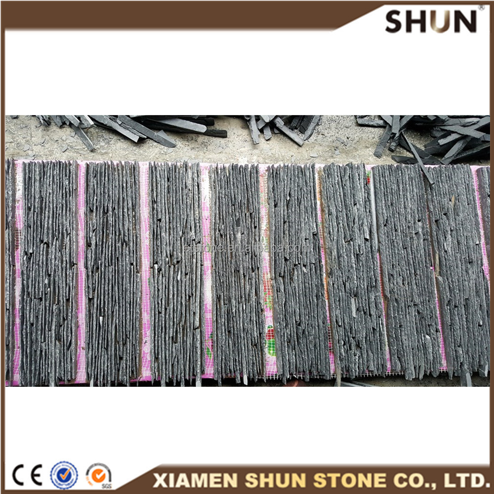 Natural Surface Black Cultural Slate TIles Cut to Size Tiles Price On Slate
