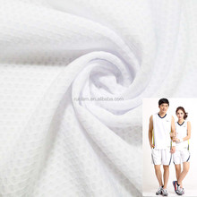 100%ployester mesh football fabrics used for sportswear t-shirt