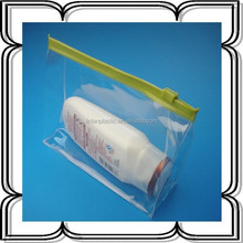 clear pvc slider zip lock bag,pvc stand up plastic bag with logo printing