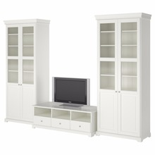Solid Wood Furniture Wooden tv cabinet with showcase