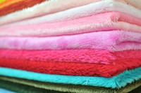 2014 warp knitting fabric 100% polyester fabric for sofa/short plush fabric/micro velboa fabric