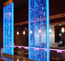 Nightclub bar floor standing and hanging wall acrylic water bubble panels