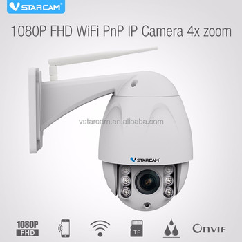Hot VStarcam C34S-X4 1080P 128GB micro SD card home security 4xZoom wifi ptz outdoor dome ip camera