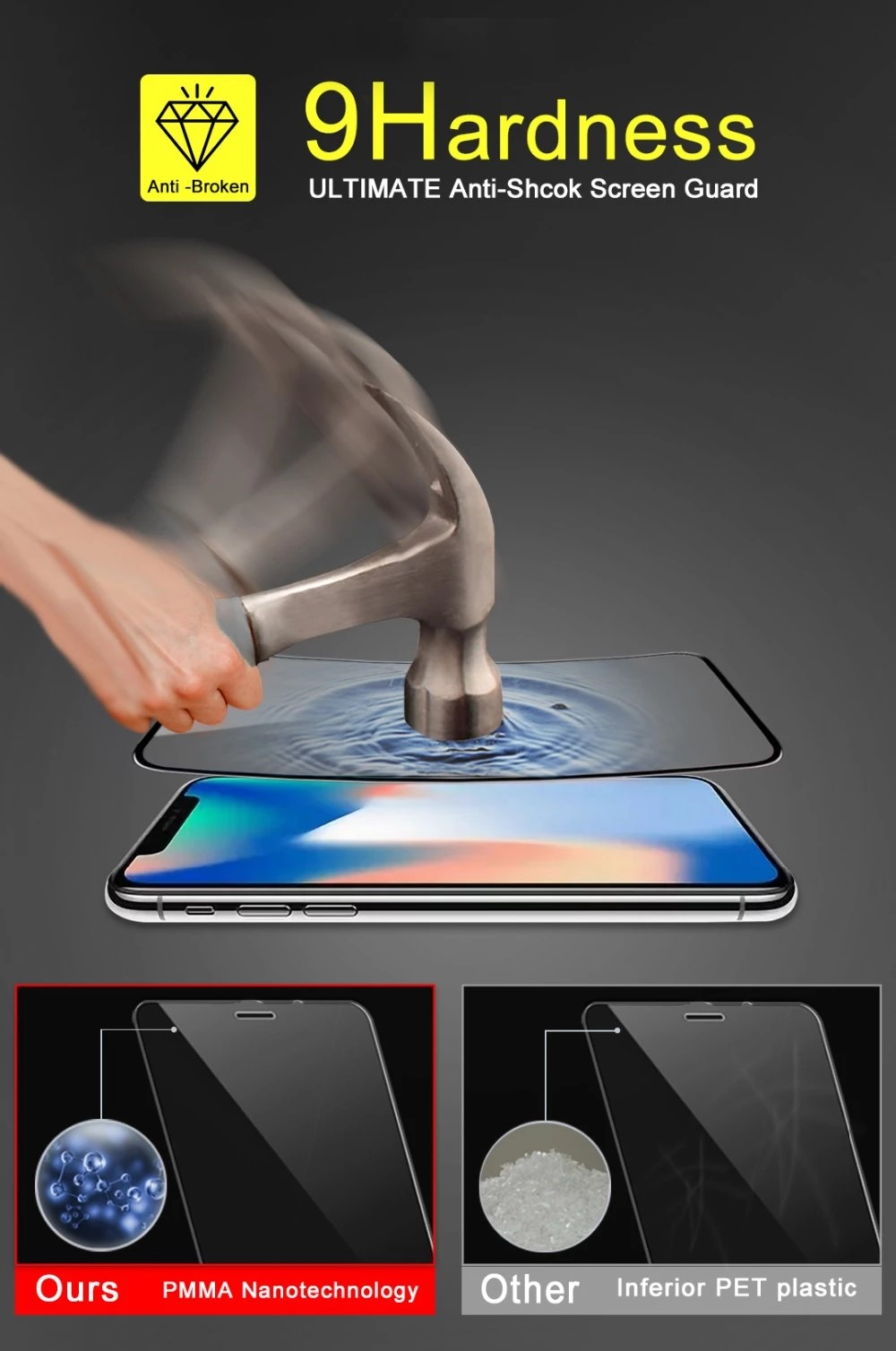 Custom Nano 3D 9D Ceramics full coverage glass for sansung A10 A20 A30 A50 A70 HD  high clear premium screen protector