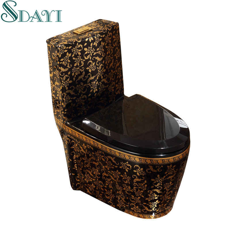 Ceramic Gold Color Bathroom Wc Toilet Bowl Black Golden Color Toilet Buy Black Toilet Gold Toilet Color Toilet Product On Alibaba Com